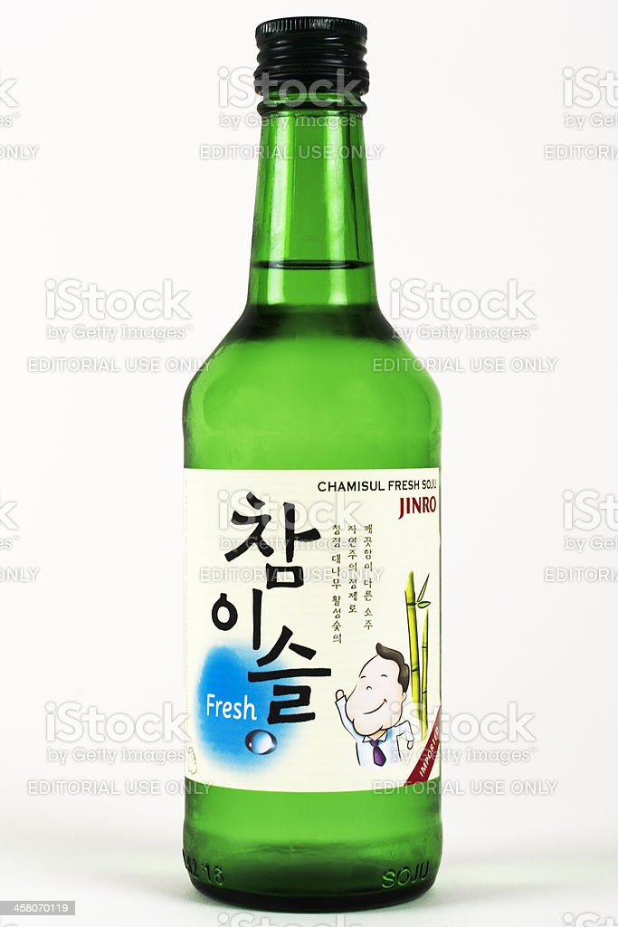 Jinro Chamisul Fresh Soju royalty-free stock photo
