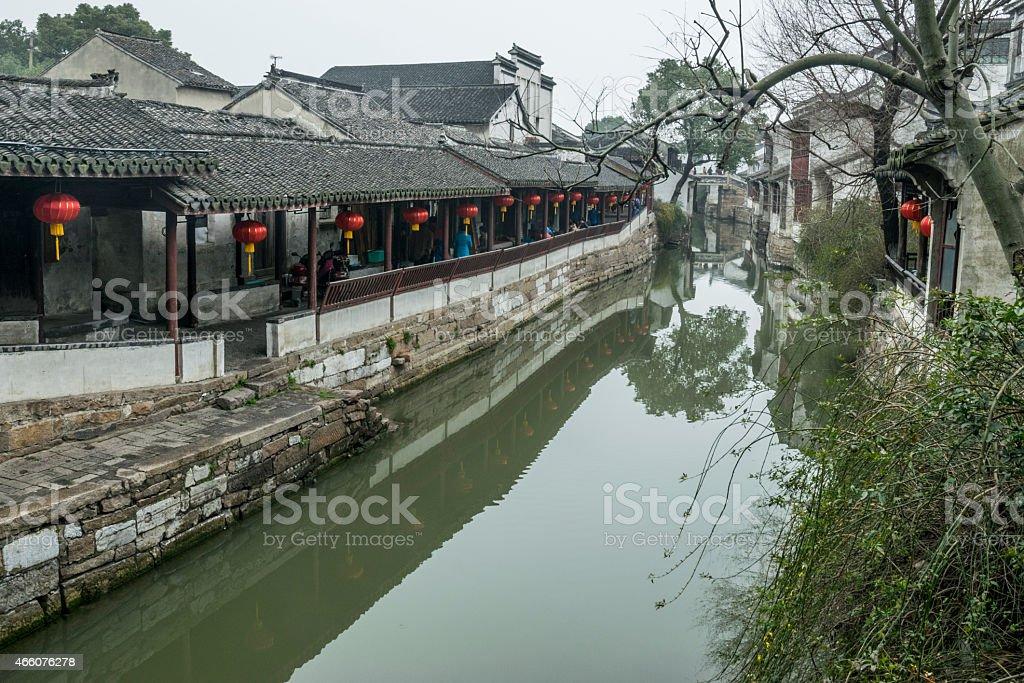 Jinxi ancient Water town near Shanghai. stock photo