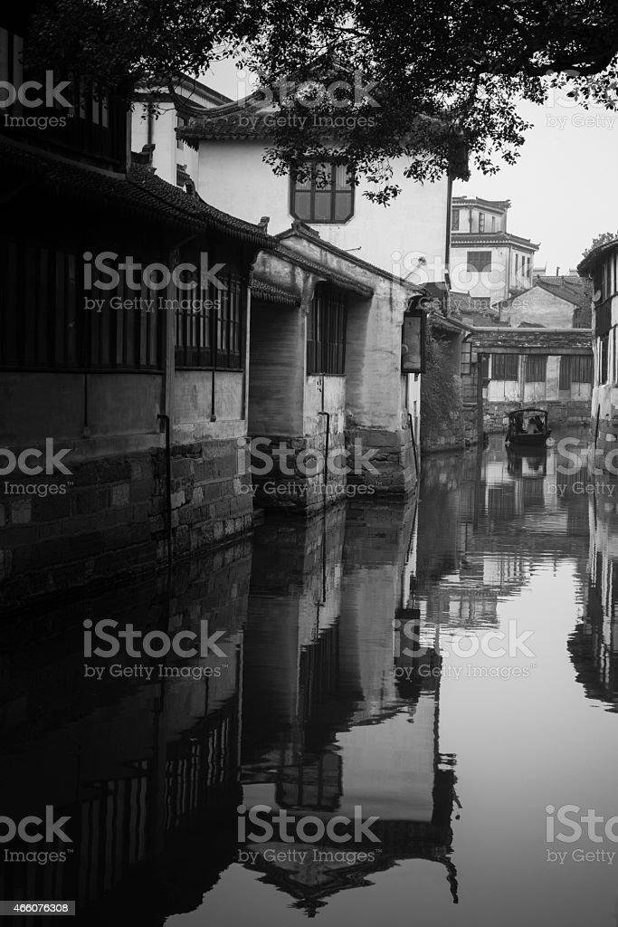 Jinxi ancient Water town near Shanghai stock photo