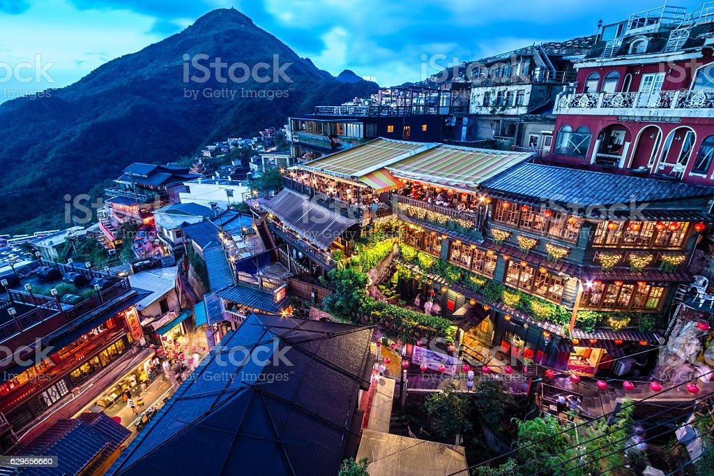 Jioufen village stock photo
