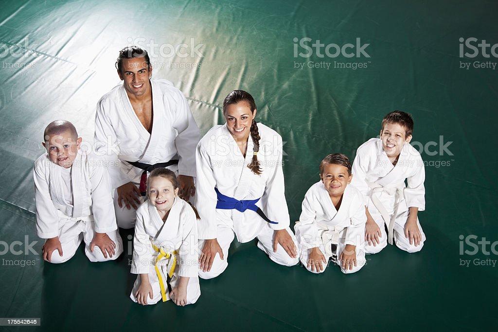 Jiu-Jitsu class stock photo