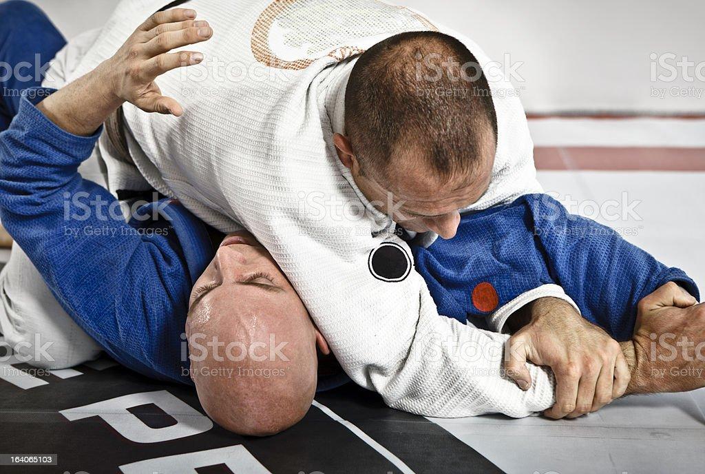 Jiu-Jitsu Submission Hold stock photo