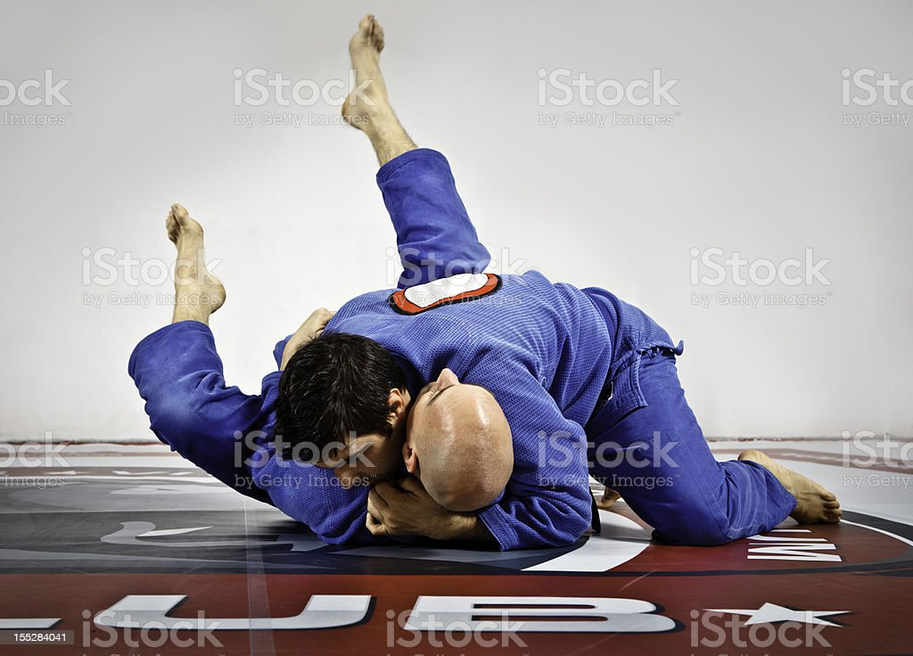 Jiu-Jitsu training royalty-free stock photo