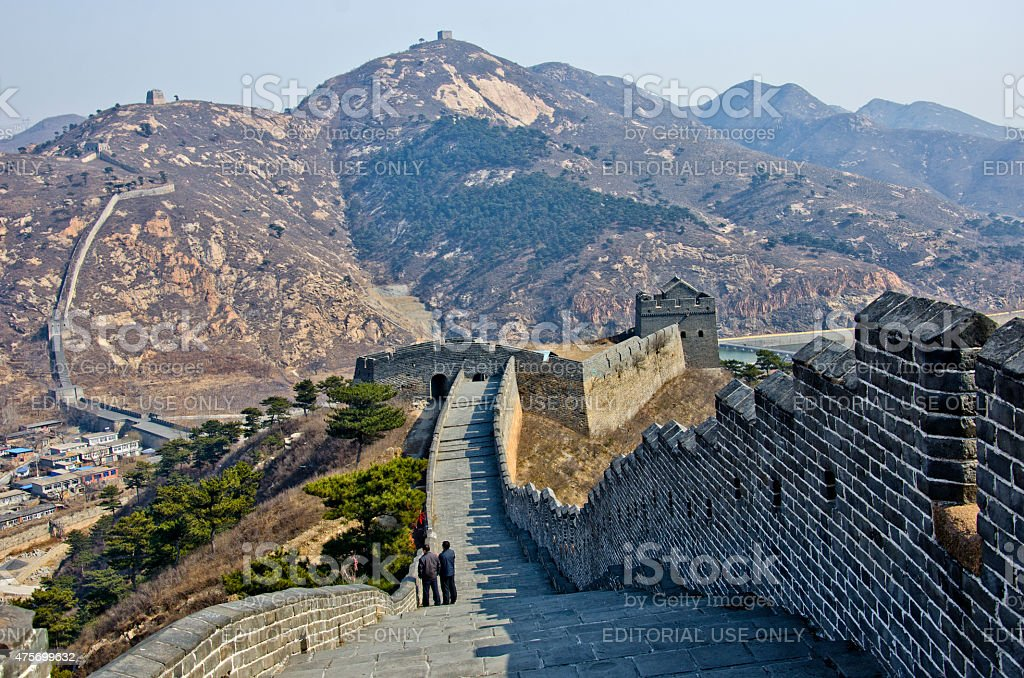 Jiumenkou great wall in China stock photo