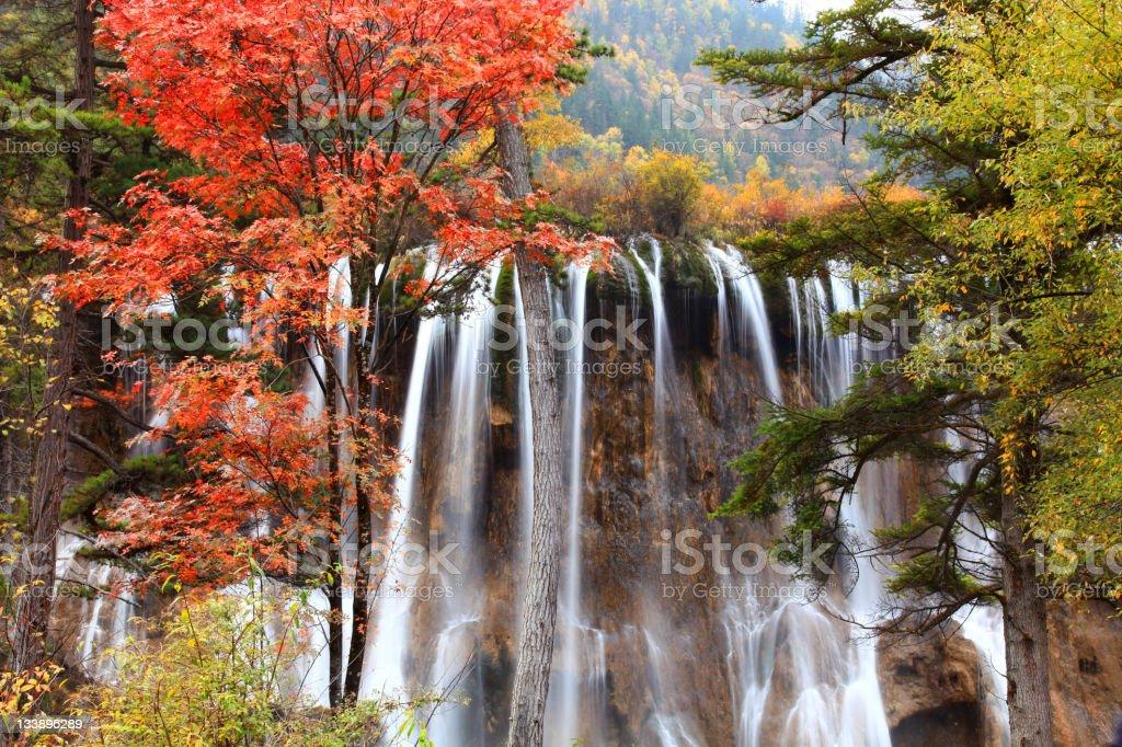 Jiuzhai waterfall, China stock photo