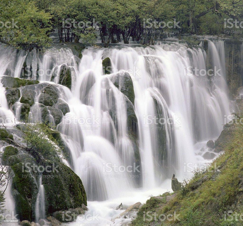 Jiuzhaigou Falls royalty-free stock photo