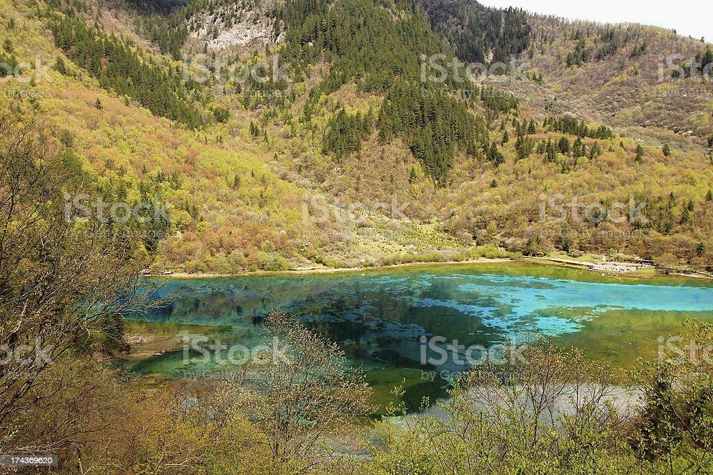 Jiuzhaigou National Park China royalty-free stock photo