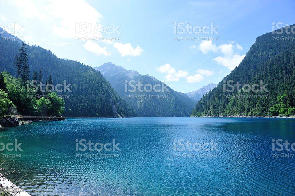 jiuzhaigou national park in china stock photo