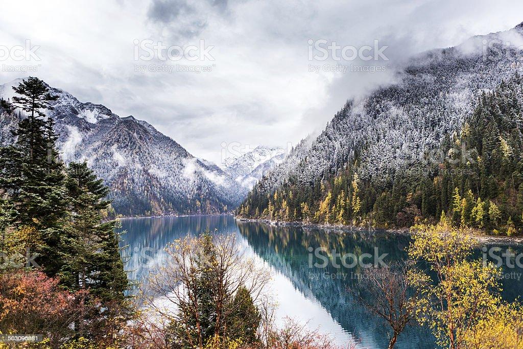 Jiuzhaigou National Park stock photo