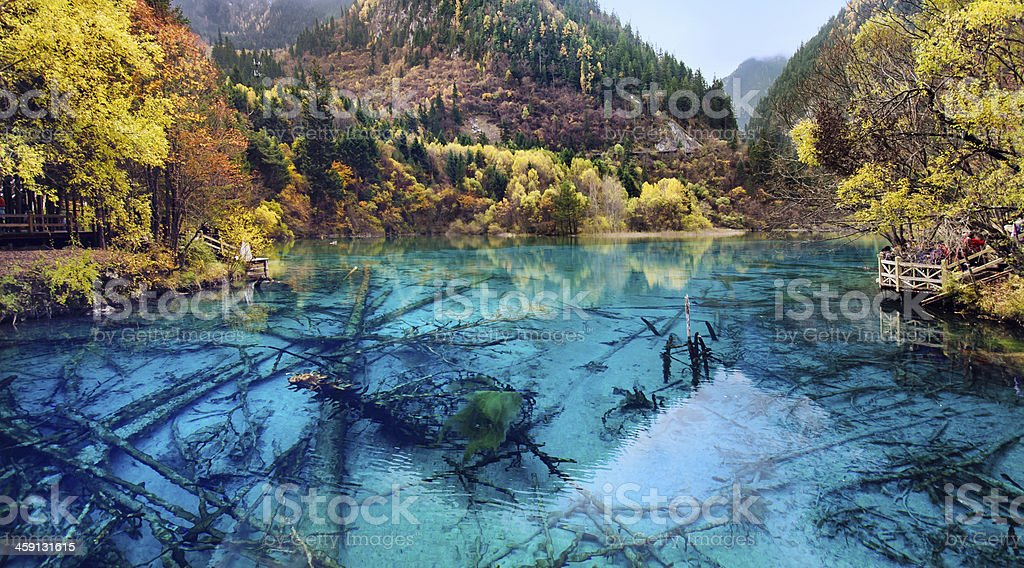 Jiuzhaigou National Park,Sichuan China stock photo