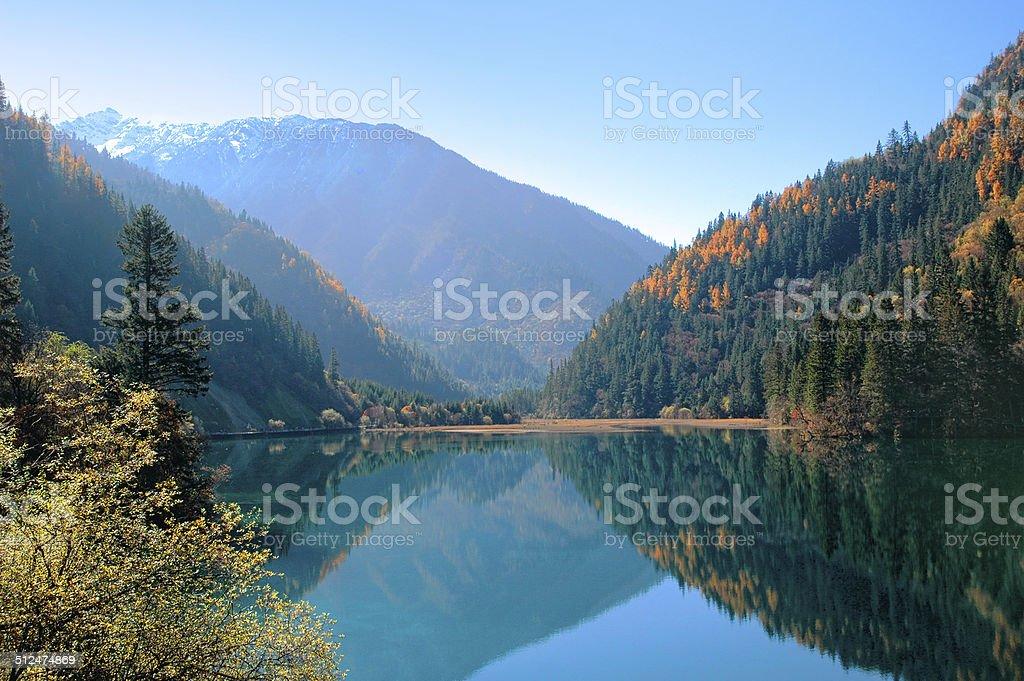 Jiuzhaigou valley Scenic,Sichuan,China stock photo