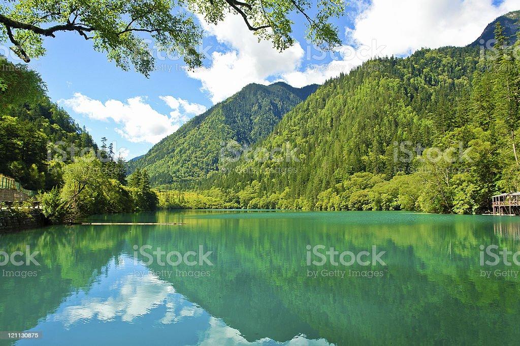 Jiuzhaigou Valley, Sichuan, China stock photo