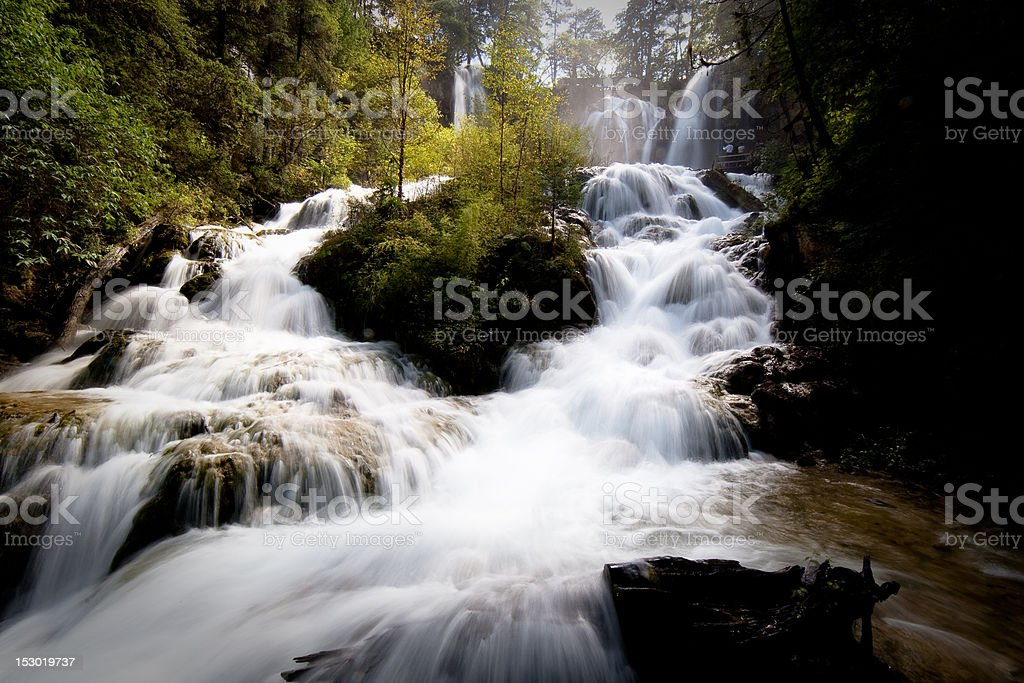 Jiuzhaigou Waterfall 1 stock photo