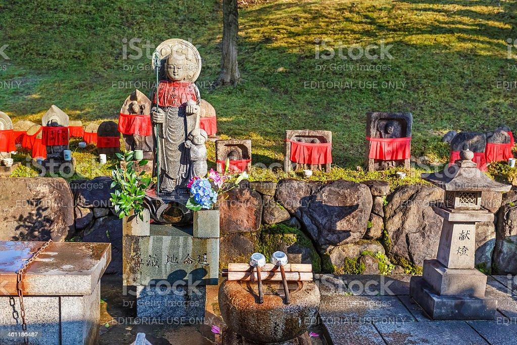 Jizo Bodhisattva at Kofukuji Temple in Nara stock photo