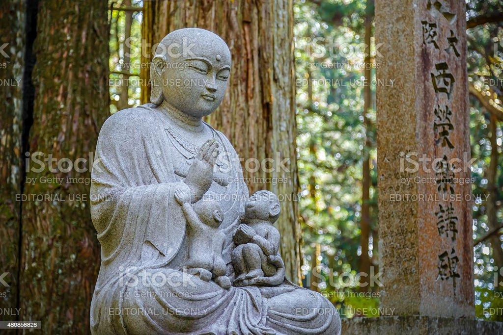 Jizo Bodhisattva at Mt. Koya in Wakayama, Japan stock photo