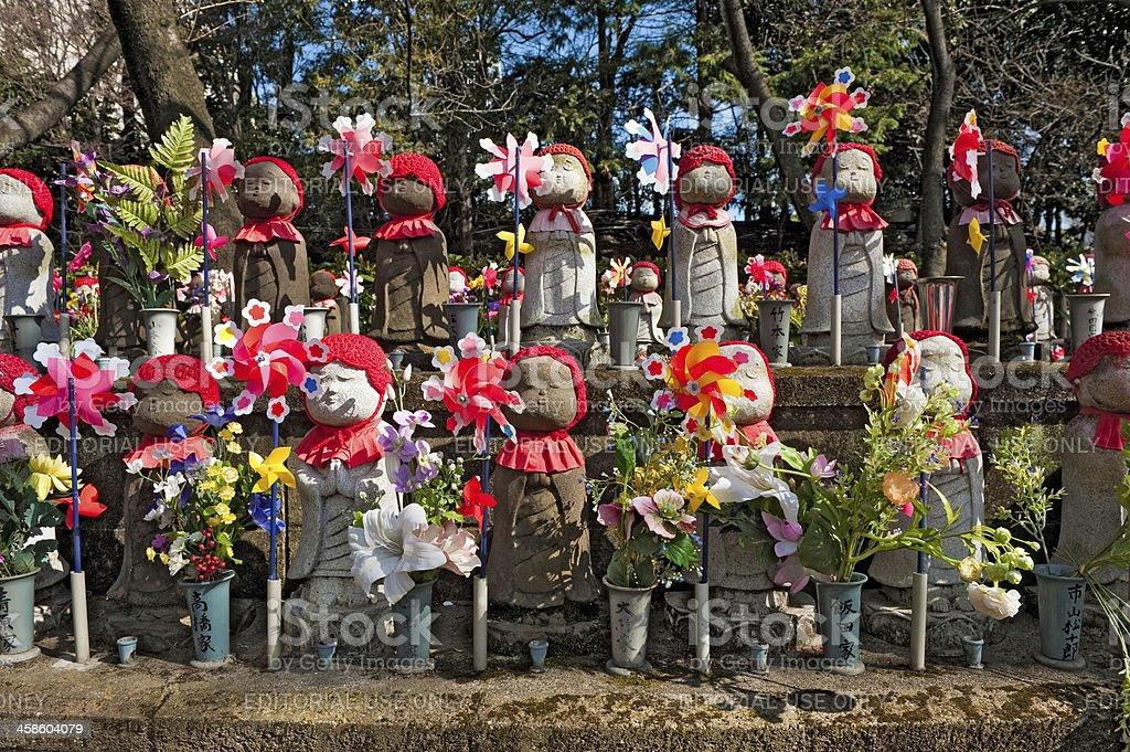 Jizo Bodhisattva shrine Zojo-ji Tokyo Japan stock photo
