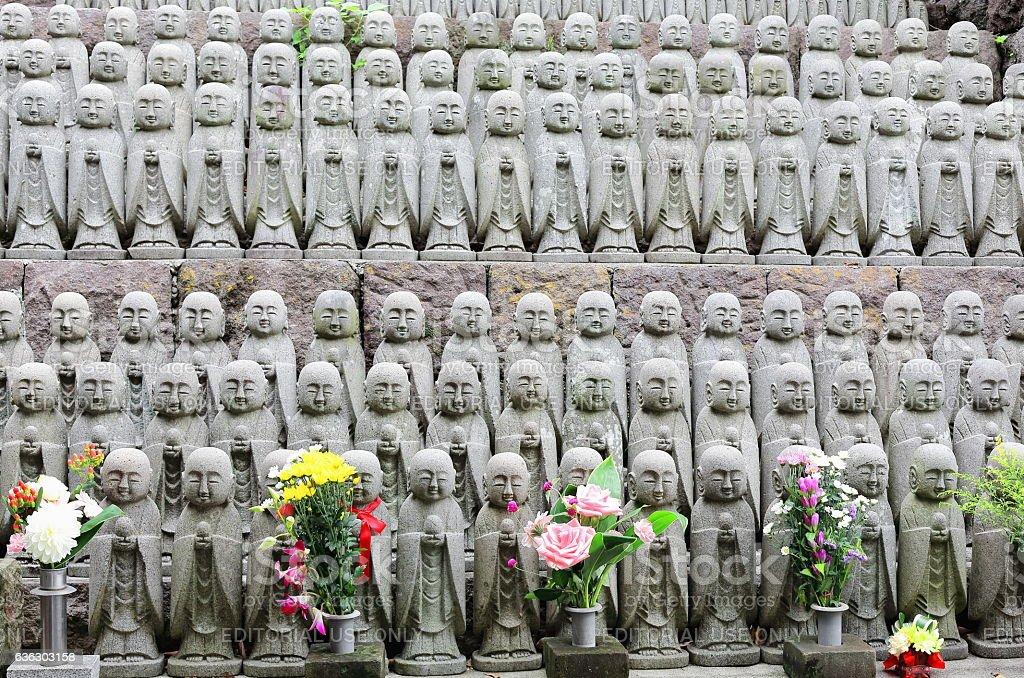 Jizo bodhisattva statues in Hase-Dera temple. Kamakura-Japan. 7693 stock photo