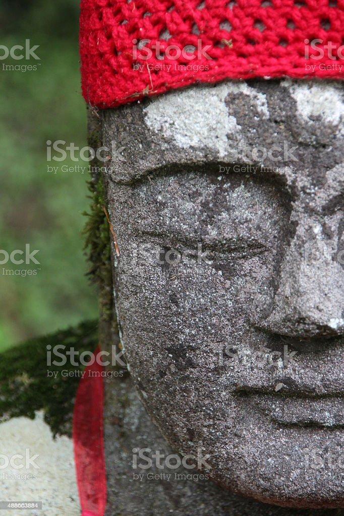 Jizo Face stock photo