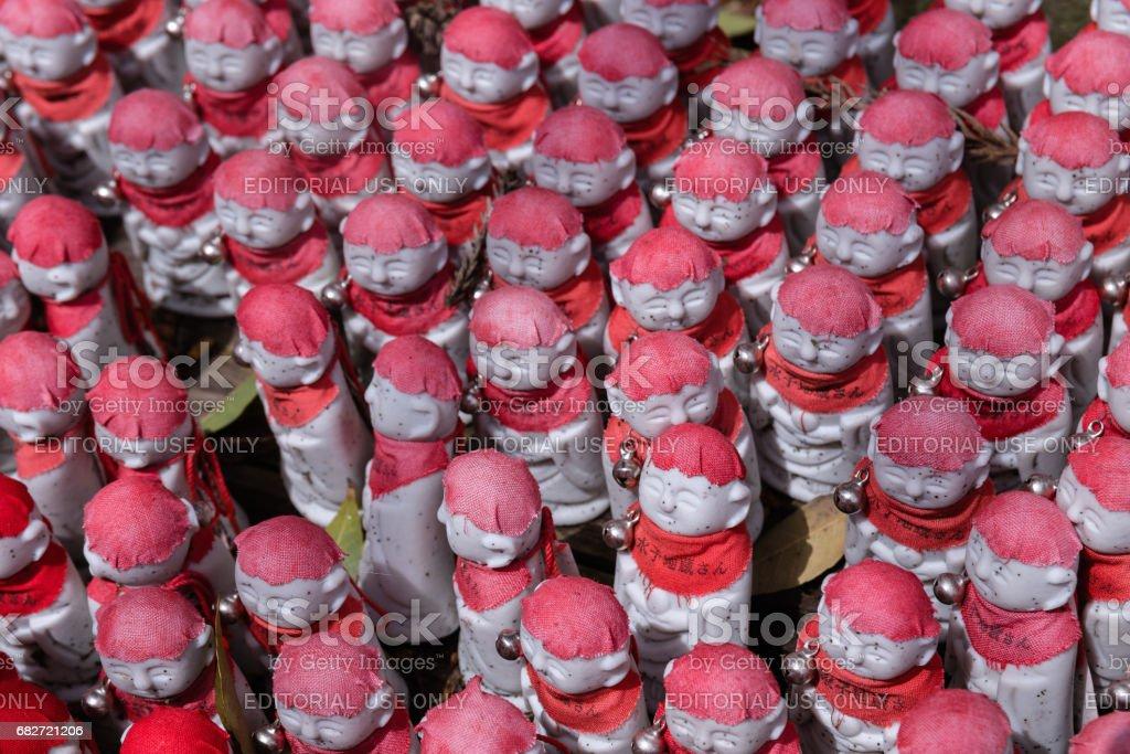 Jizo figurines stock photo