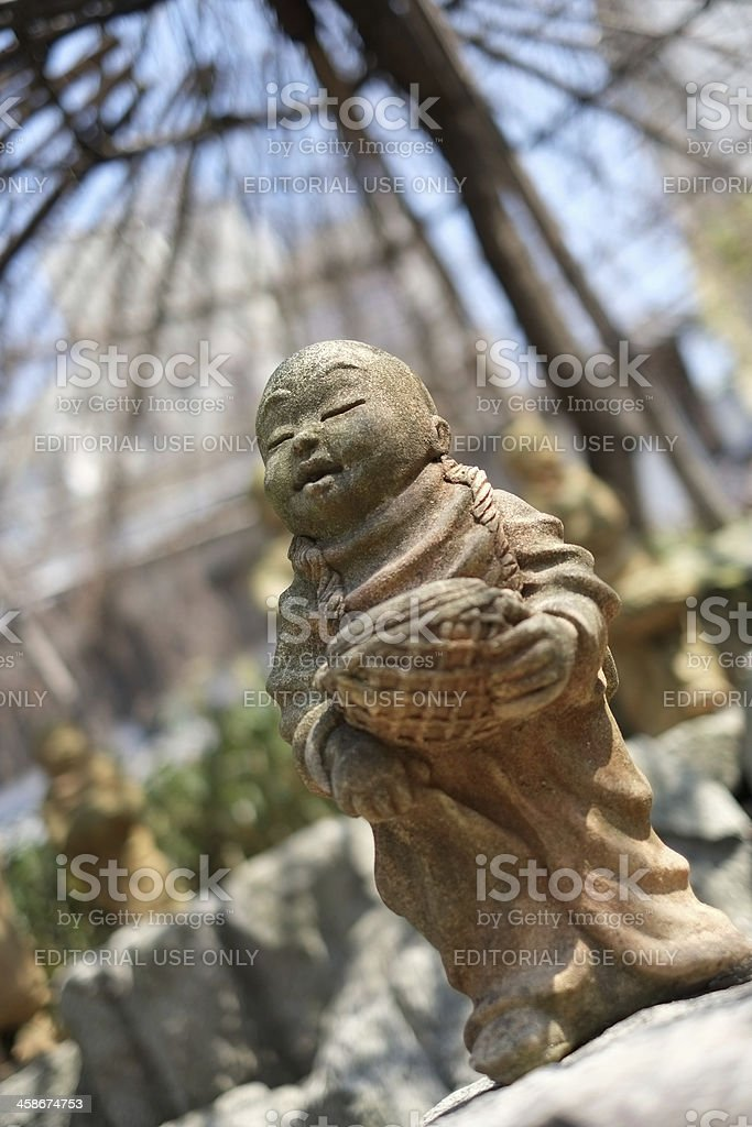 Jizo statue in Rokkakudo Temple stock photo