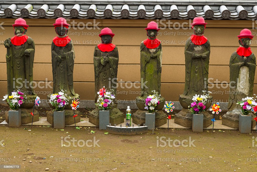 Jizo statue stock photo