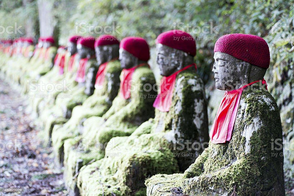 Jizo Statues stock photo