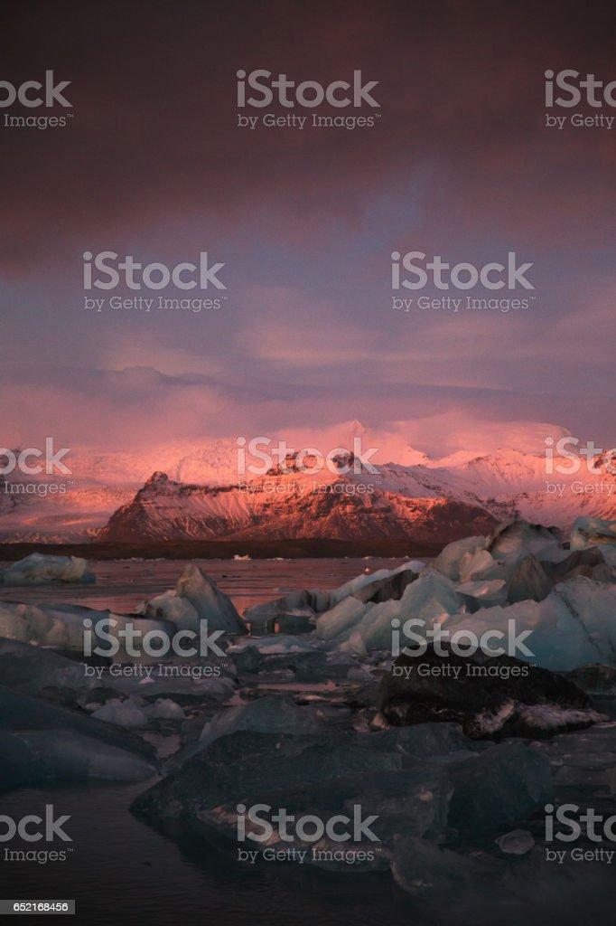 Jökulsárlón - Glacier Lagoon ICELAND stock photo
