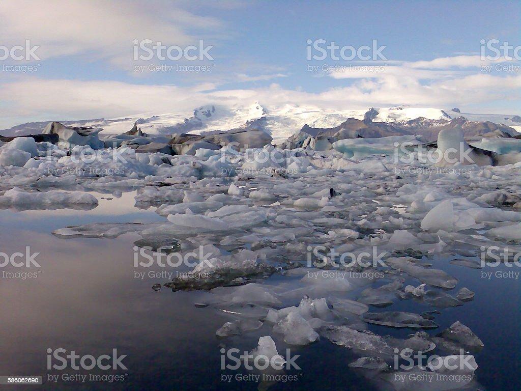 Jökulsárlón Glacier Lagoon in Iceland stock photo