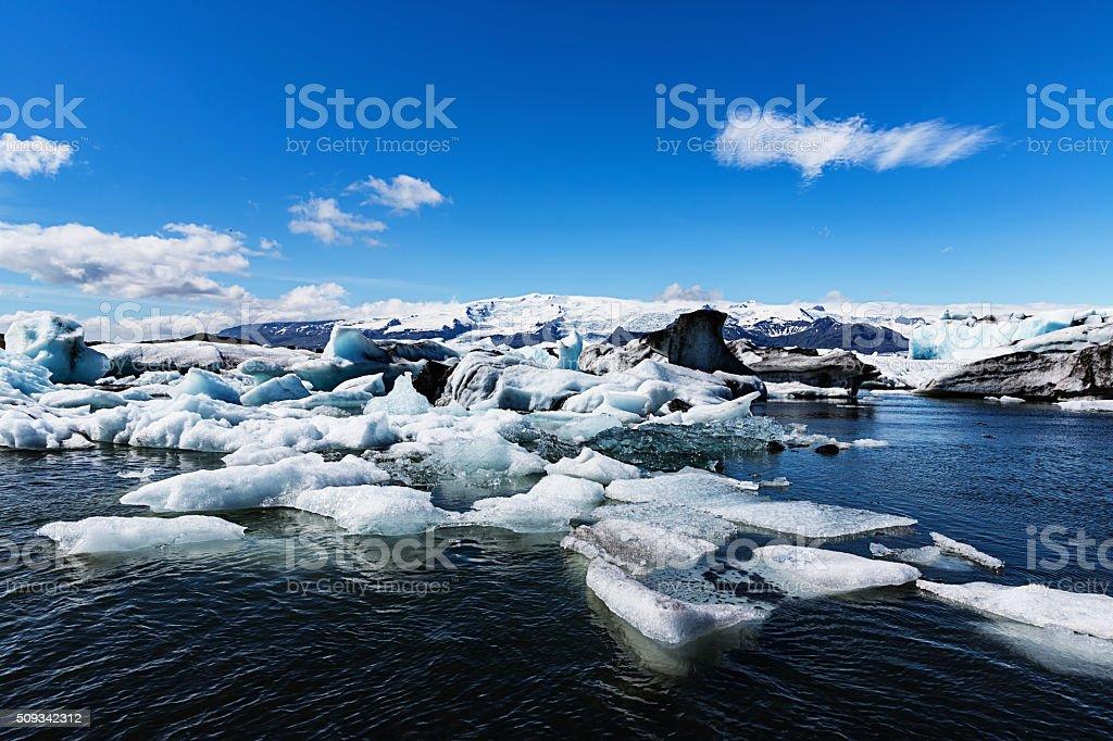 Jökulsárlón Glacier Lake Iceland stock photo