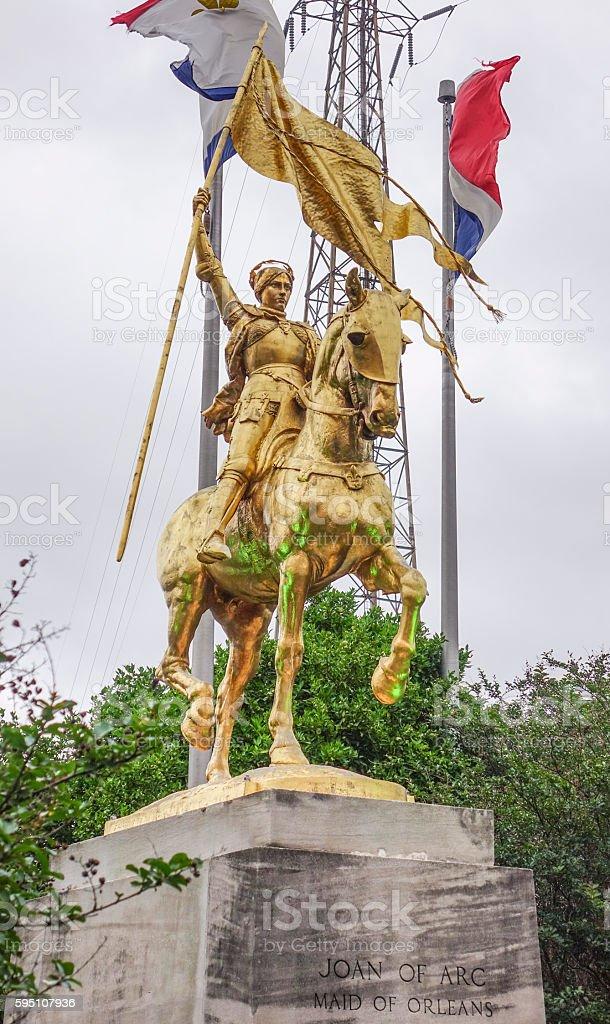 Joan D Arc - Maid of Orleans statue in New Lizenzfreies stock-foto