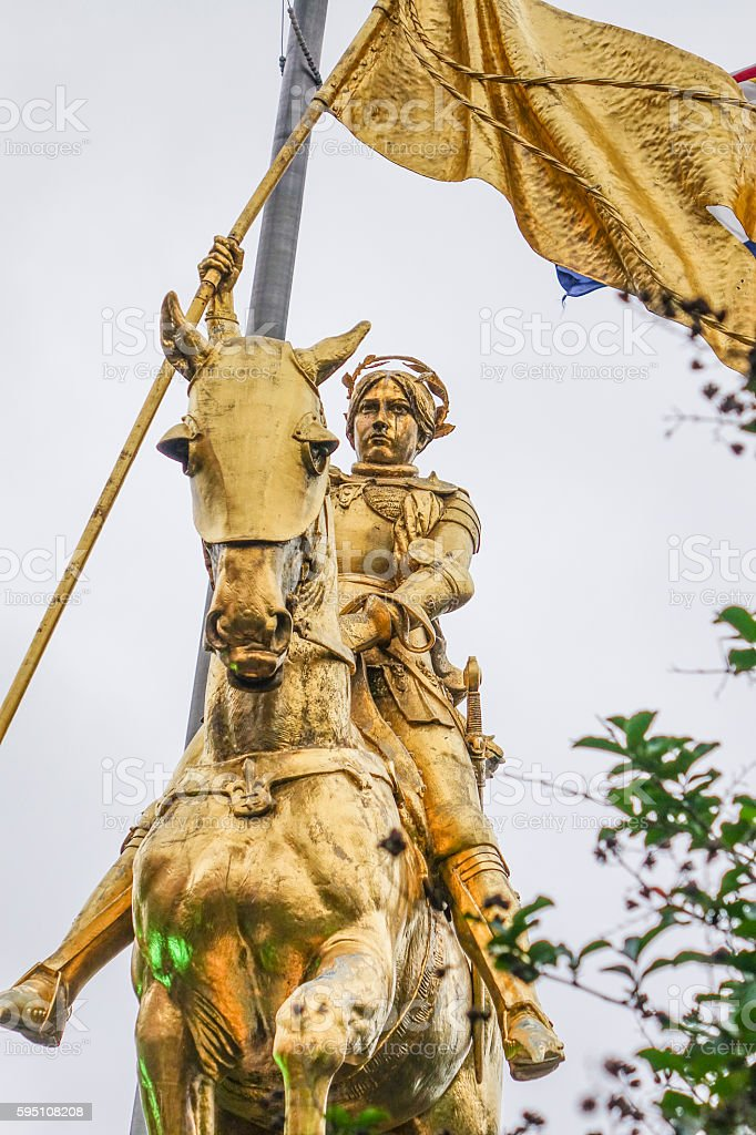 Joan D Arc - Maid of Orleans statue in New Lizenzfreies stock-foto
