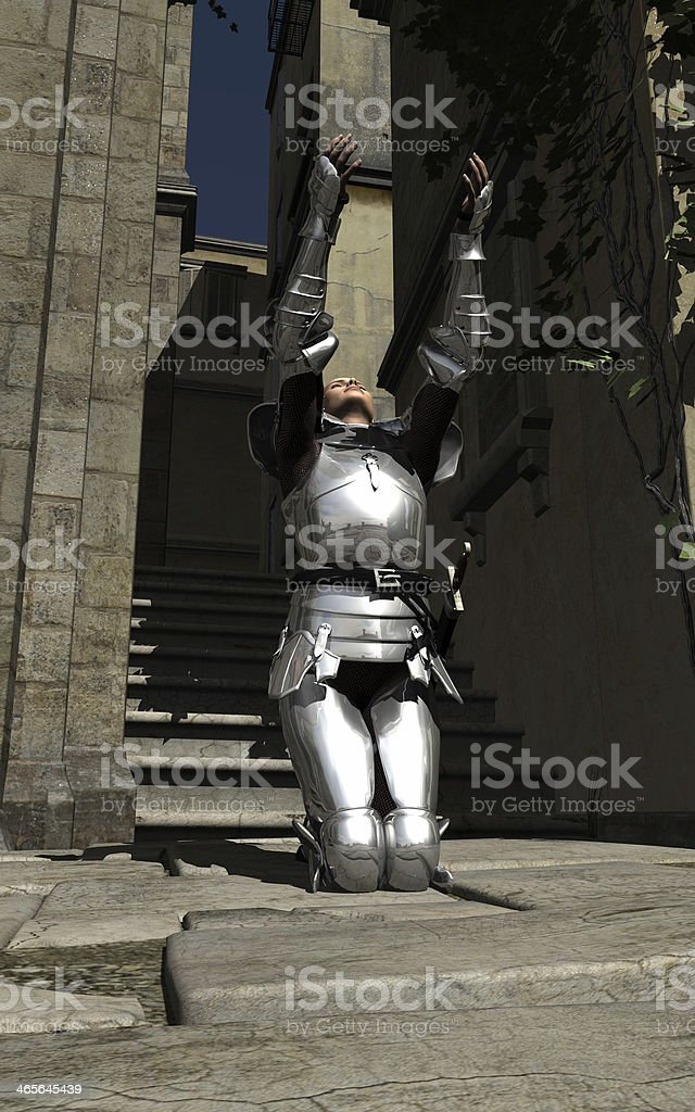 Joan of Arc - In the City stock photo