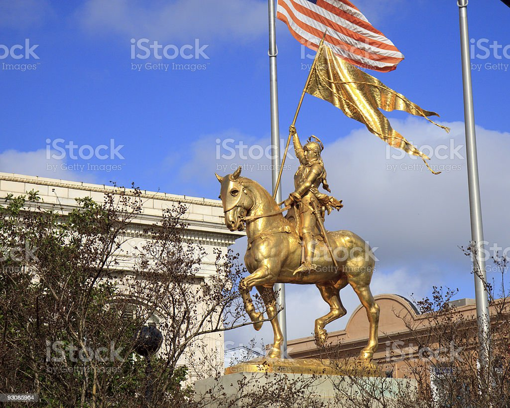 Joan of Arc stock photo