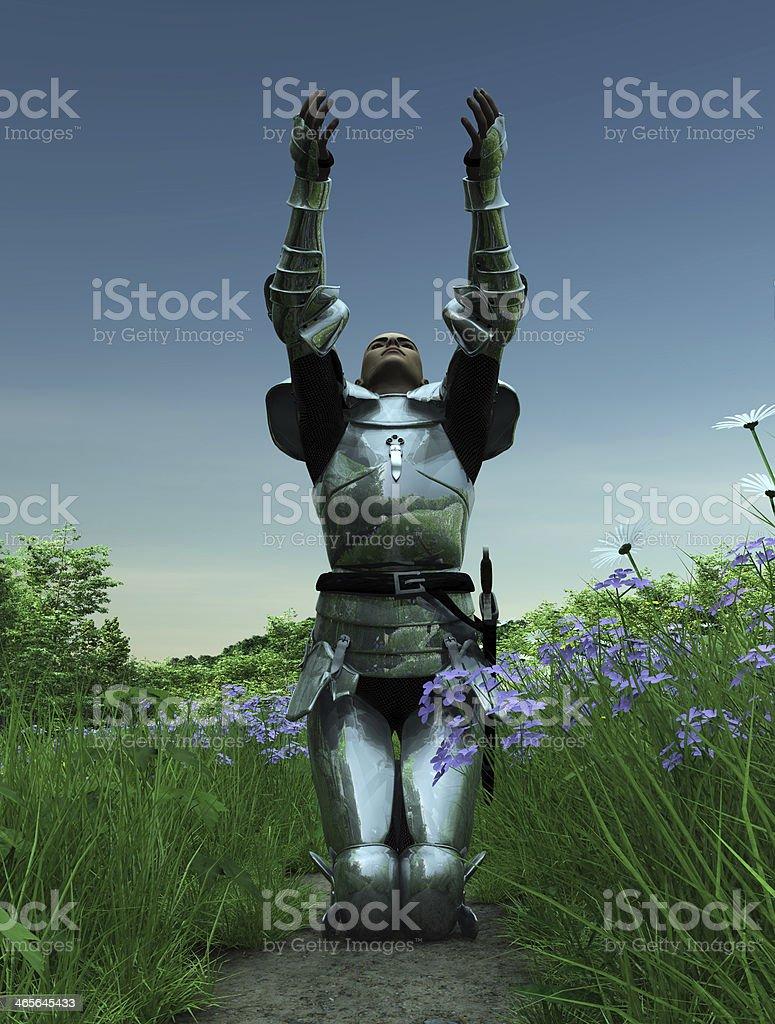 Joan of Arc - Supplication stock photo