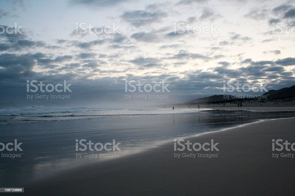 Joaquina's Beach in the late afternoon royalty-free stock photo
