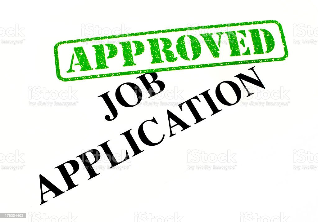 Job Application Approved royalty-free stock photo