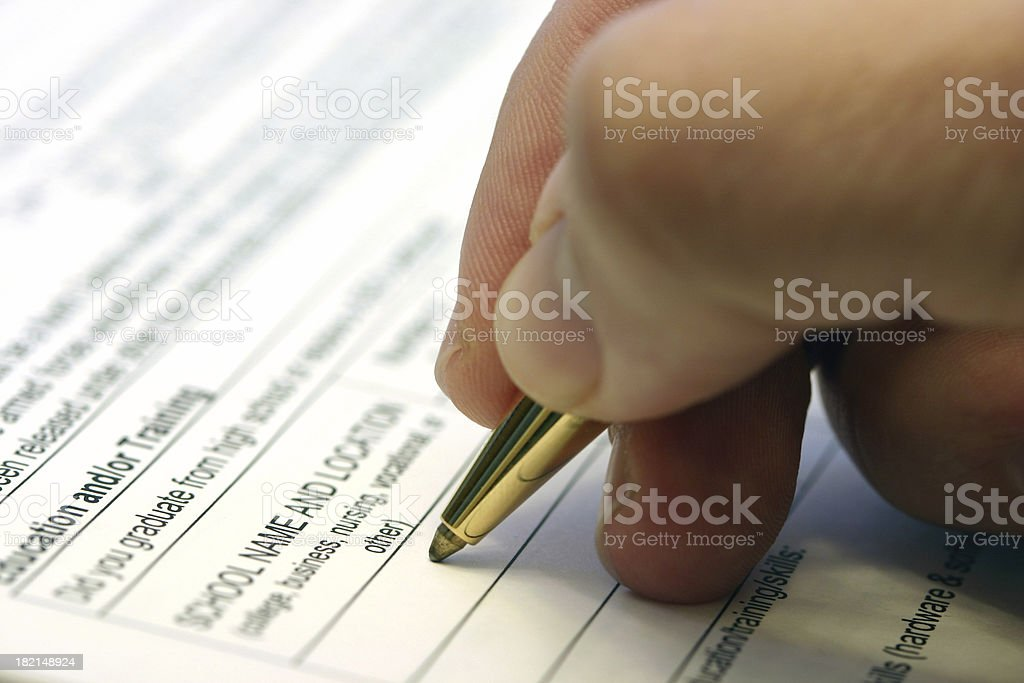 Job Application royalty-free stock photo