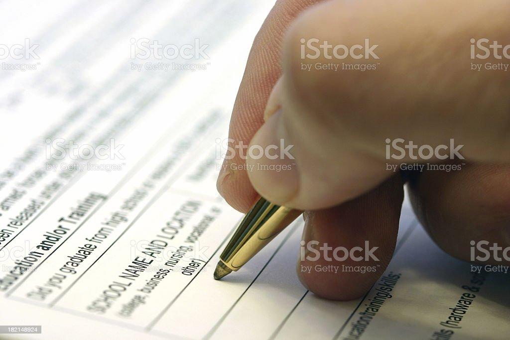 Job Application stock photo