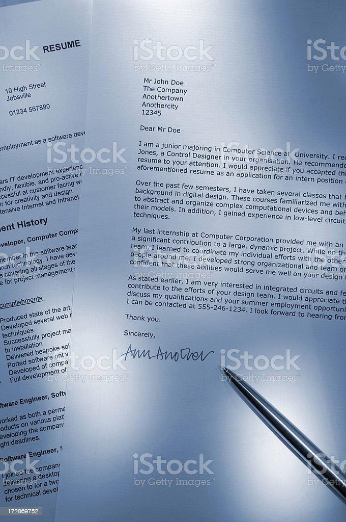 job application series royalty-free stock photo