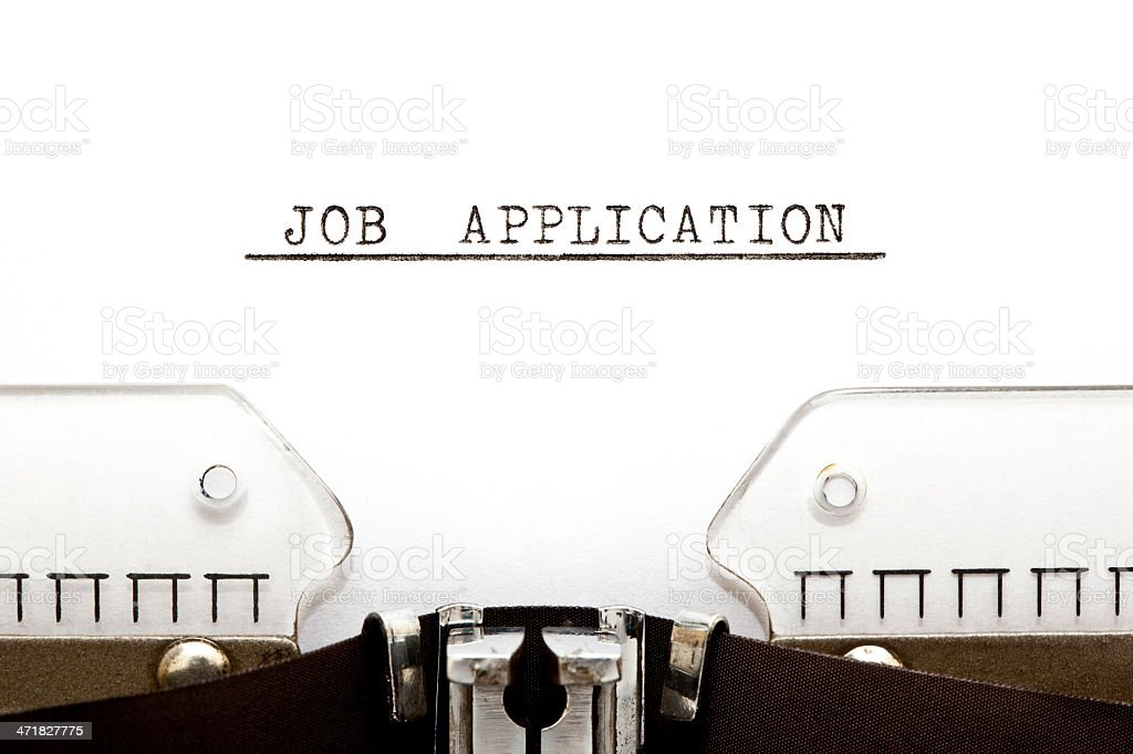 Job Application Typewriter royalty-free stock photo