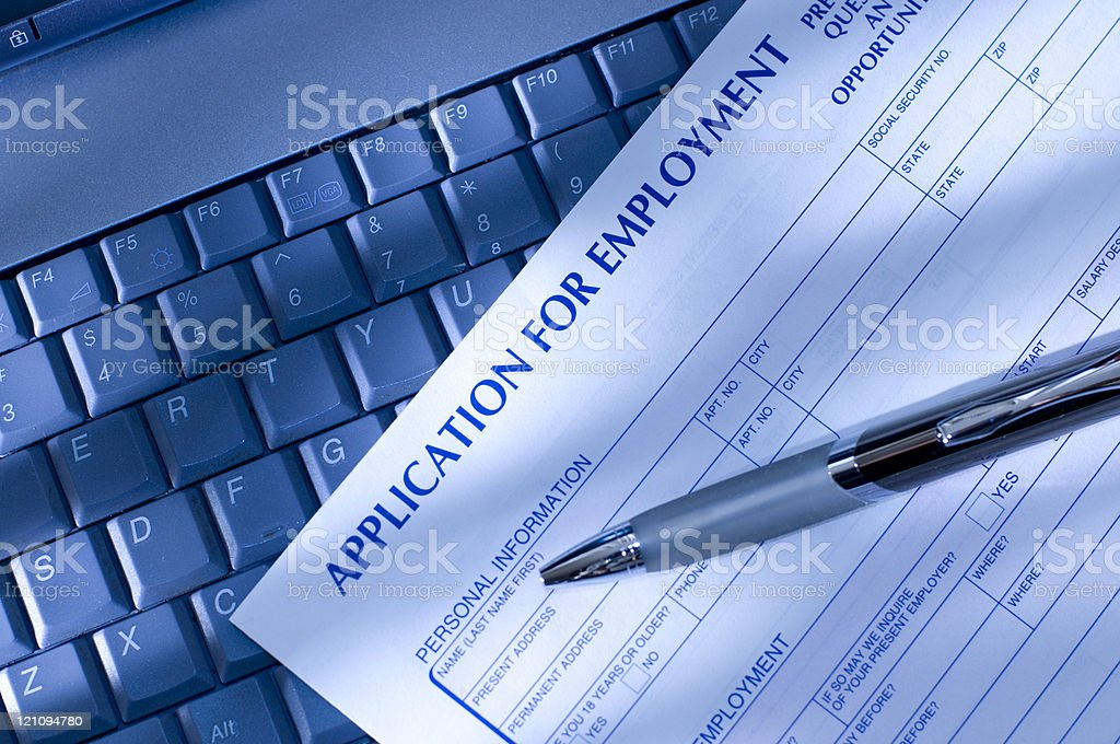 Job Application with Computer royalty-free stock photo