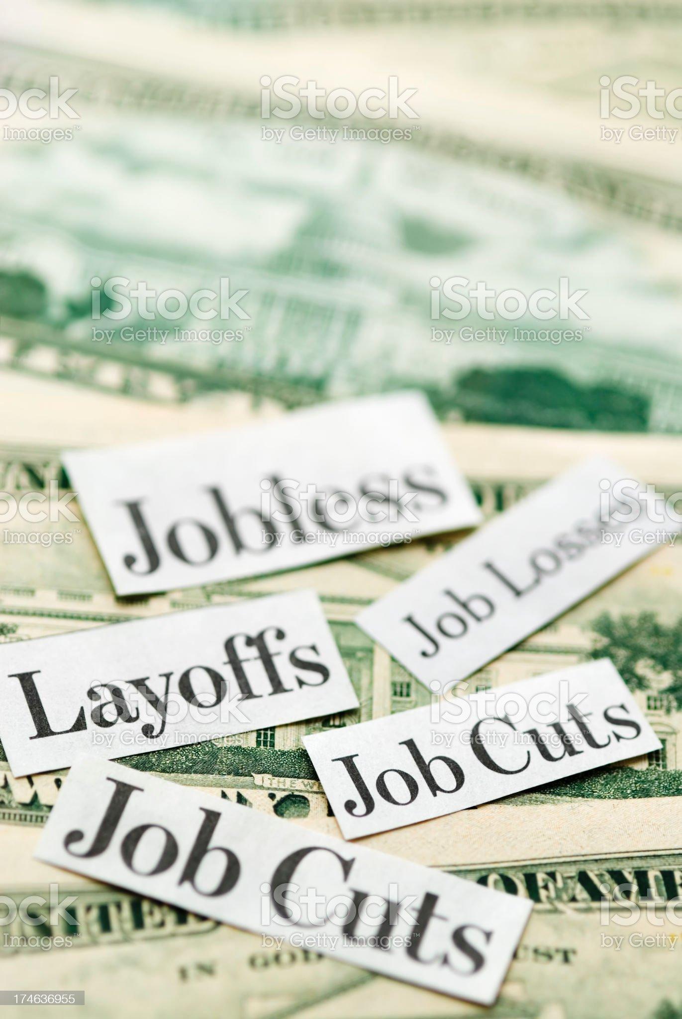 Job Cuts, Jobless, Layoffs - IV royalty-free stock photo