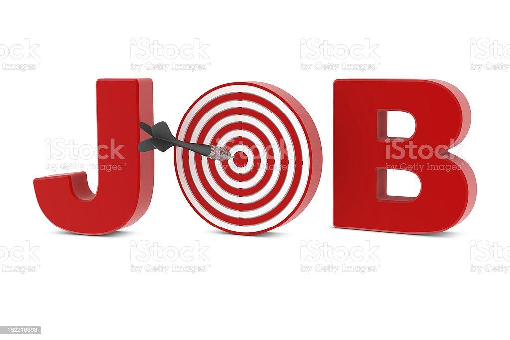 Job - Darts royalty-free stock photo