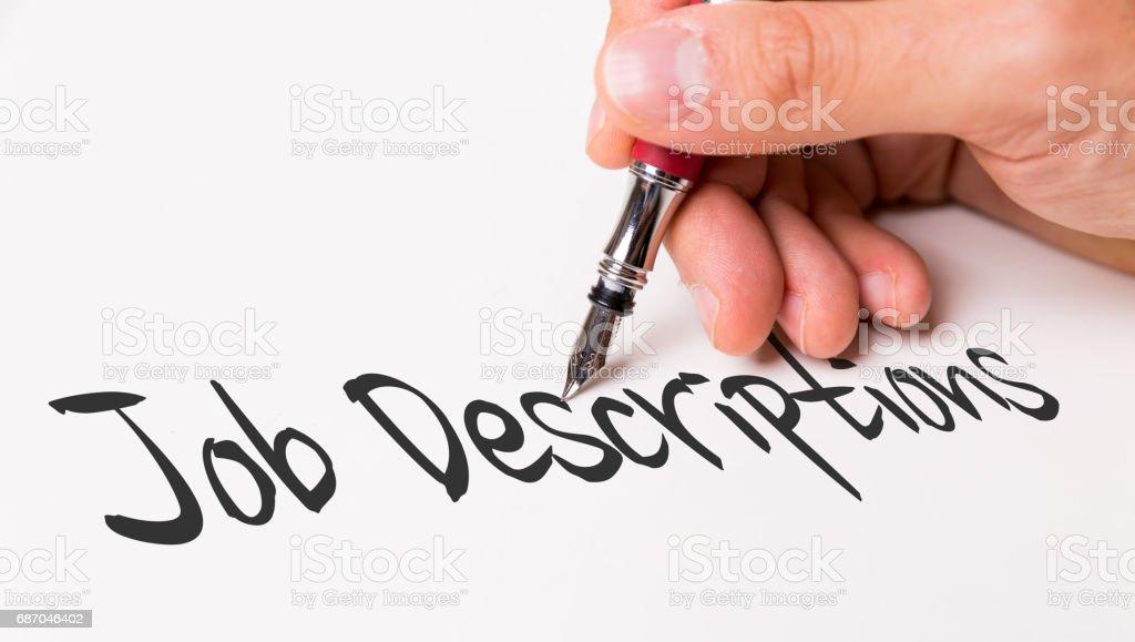 Job Descriptions stock photo