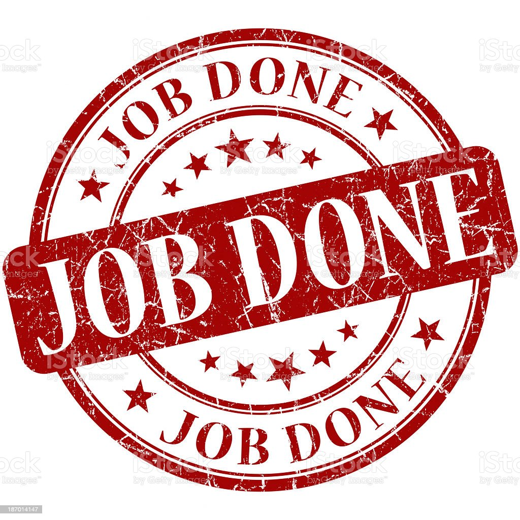 job done round red stamp royalty-free stock photo