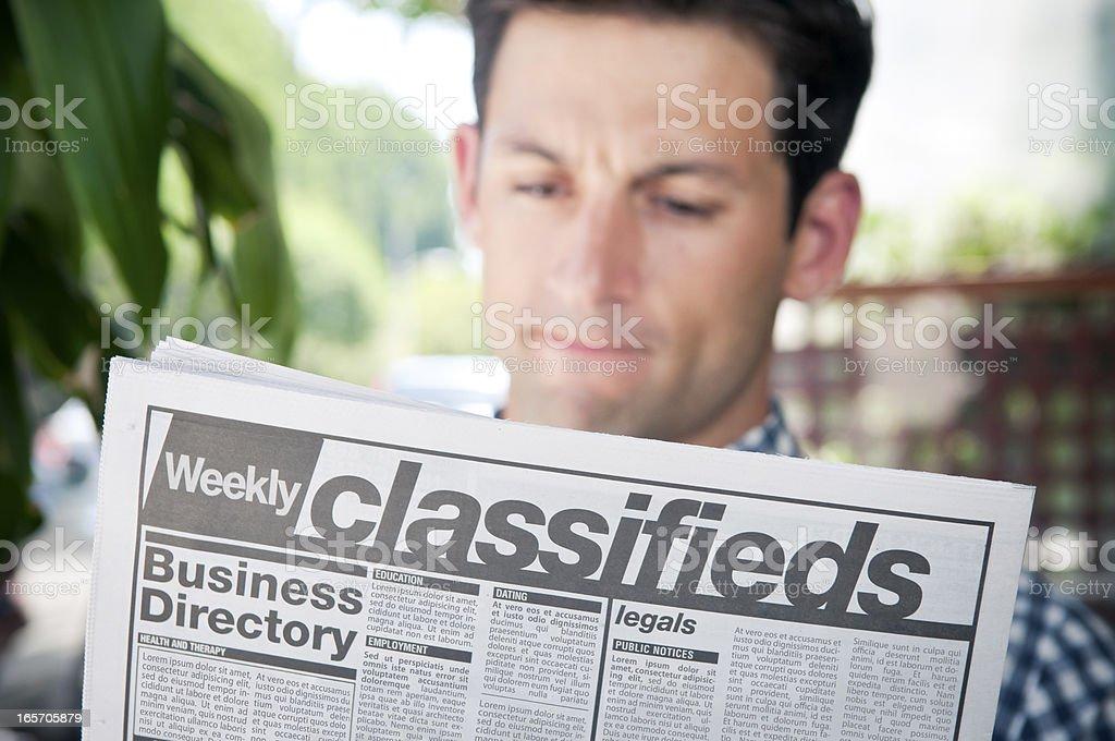 Job hunting royalty-free stock photo
