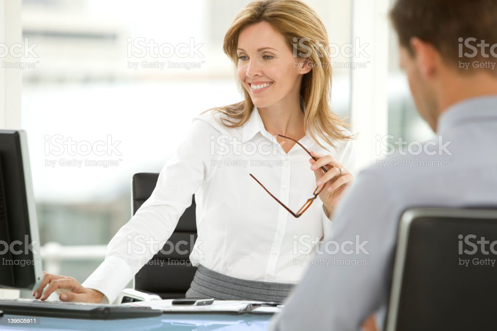 Job interview at the office stock photo