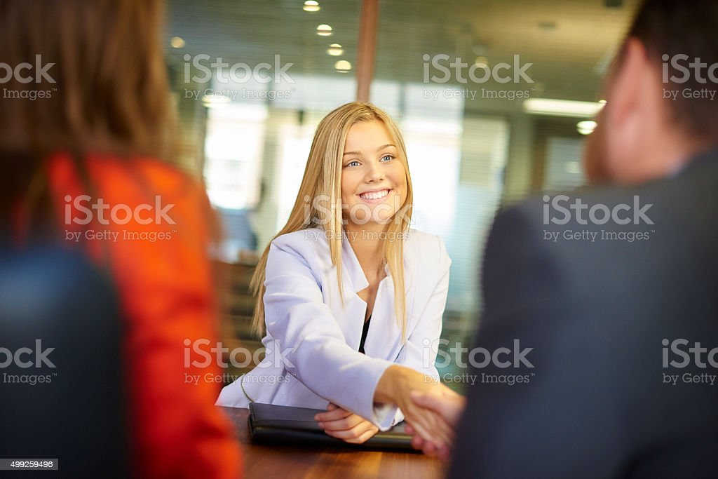 job interview candidate stock photo