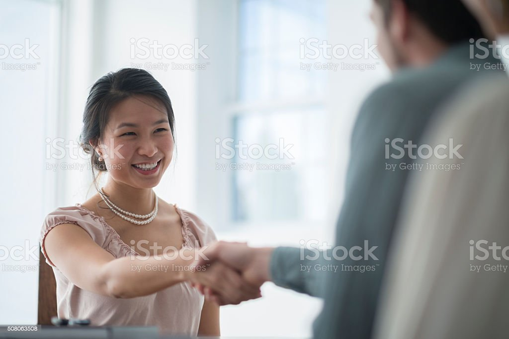 Job Interview for Business Position stock photo