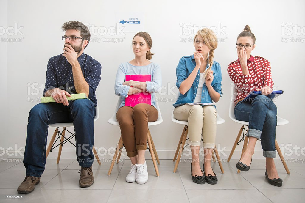 Job interview makes them feel scared stock photo